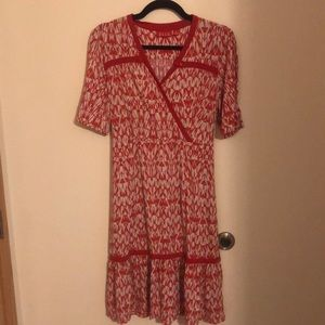 Elle Red & White Dress 'Rare' Size Medium